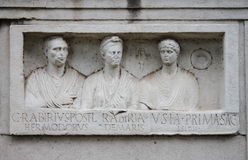 Basrelief in the Appian way of Rome Royalty Free Stock Photos