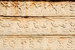 Basrelief artwork of Royal Enclosure temple at Hampi Royalty Free Stock Photography