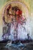 Basrelief av den hinduiska apa-guden Hanuman Royaltyfri Fotografi