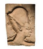 Basrelief av farao Royaltyfri Fotografi