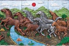 Basrelief av hästen Royaltyfria Foton