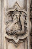 Basrelief on Bigallo Loggia of Florence Royalty Free Stock Photography