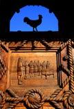 basrelief drewniany tradycyjny Zdjęcia Royalty Free