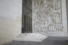 Basrelief en historia av Rome till och med den offentliga arbeten för s Royaltyfria Bilder