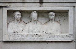 Basrelief na maneira de Appian de Roma Fotos de Stock Royalty Free