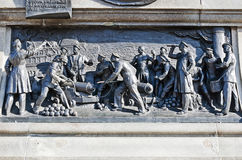 Basrelief på monumentet till amiralen Nakhimov Royaltyfri Foto