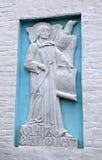 Basrelief på väggen av John evangelisten Cathedral Georgian Mother av guden Royaltyfri Foto