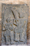Basrelief at Royal Centre on Hampi Stock Photography