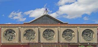 Basreliefer på byggnaden av det tidigare lenin museet arkivfoton
