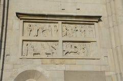BasreliefModena Unesco Arkivfoton
