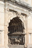 Basreliefs in the Arch of Titus Royalty Free Stock Image