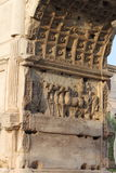 Basreliefs in the Arch of Titus Stock Photography