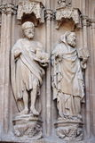 Basreliefs in Palma de Mallorca cathedral Royalty Free Stock Images