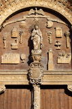 Basreliefs in Portal of Palma de Mallorca cathedral Stock Photos