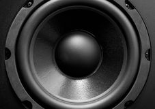 Bass. Black bass speaker for high quality music Stock Images