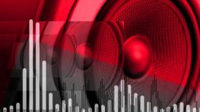 Bass Audio Speaker que golpea pesadamente (lazo) ilustración del vector