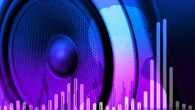 Bass Audio Speaker que golpea pesadamente (lazo) libre illustration