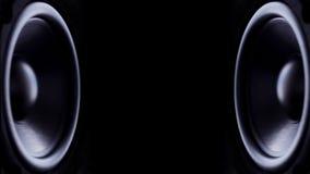 Bass Audio Speakers que golpea pesadamente ilustración del vector