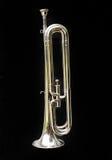 Bass Bugle. A Bass BUgle on a back background Stock Photo