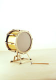 Bass drum. Against light background Stock Photos