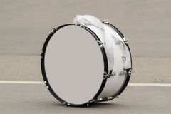 Bass drum on a grey background Stock Photos