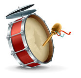 Bass drum instrument Royalty Free Stock Image