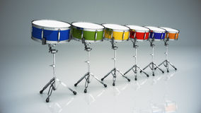 Bass drum isolated. Design made in 3D Stock Images