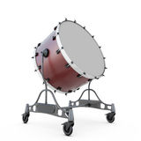 Bass drum. Isolated on white abckground. 3d illustration Stock Image