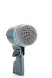 Bass Drum Microphone. On white Stock Photos