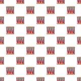 Bass drum pattern seamless Royalty Free Stock Photos