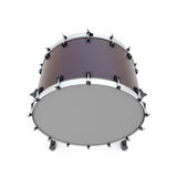 Bass drum percussion instrument isolated Royalty Free Stock Image