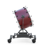 Bass drum slide view Royalty Free Stock Image