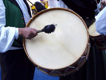 Bass drum. In the street Royalty Free Stock Image