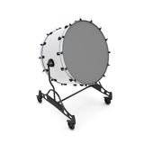 Bass drum on a white. Bass drum  on white background. 3d illustration. Music instruments series Stock Image