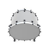 Bass drum. On a white. 3d illustration. Music instruments series Royalty Free Stock Images