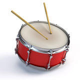 Bass drum. On white - 3d render Stock Photos