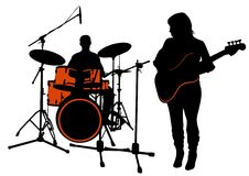 Bass and drums Royalty Free Stock Images