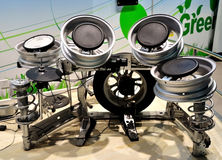 Bass Drums Made of Car parts Royalty Free Stock Photo