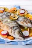 Bass fish prepared Stock Photo
