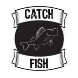 Bass fish vector Royalty Free Stock Photo