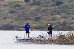 Bass Fishing Boat Men Waters Stock Photos