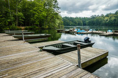 Bass fishing boat in Virginia USA Stock Photography