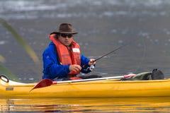 Bass Fishing Canoe stock foto