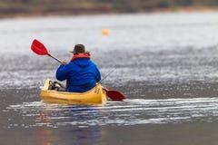 Bass Fishing Canoe Paddling Royalty Free Stock Photo