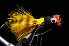 Bass Fishing Fly Stock Photo