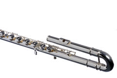 Bass Flute Isolated On White Royalty Free Stock Photos