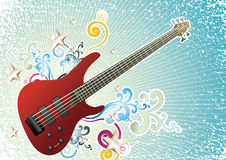 Bass guitar. Vector illustration of colorful bass guitar Stock Image