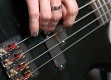 Bass Guitar. Close up of bass guitar Royalty Free Stock Photography