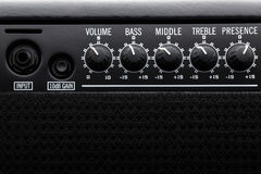 Bass Guitar Amplifier nero Fotografia Stock