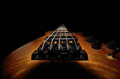 Bass guitar from behind Royalty Free Stock Photos